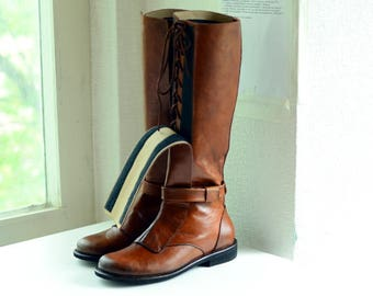 """Obi-Wan Kenobi """"Old Ben"""" leather boots / Made to order cosplay boots / Star Wars jedi shoes"""