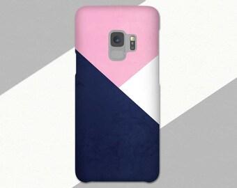 Geometric Galaxy S9 Phone Case, Galaxy S9 Plus Case, Galaxy S9 Case, S8 Plus Case, Abstract Galaxy S8 Case, Galaxy S7, Note 8, Blue Pink
