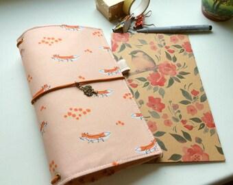In Stock- Fabric Cover Fauxdori, Cover fabric, Fabric Midori book, Field Note, Standard Size Midori