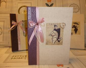 """Book of memories vintage """"Mme Berth"""" N 2 booklet or memories book"""