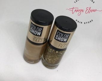 Colour Show GOLD nail Polish Set of 2
