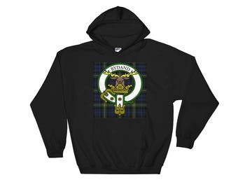 Scottish Clan Gordon Hoodie Hooded Sweatshirt with Tartan, Crest and Motto for the Proud Scot Descendant