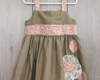 Floral Khaki Dress