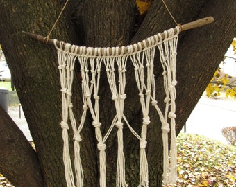 Small Hand-knotted Macrame Wall Hanging