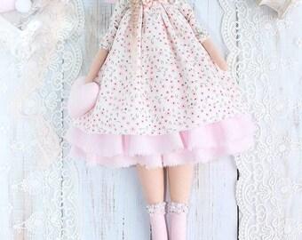 Mini Tilda Doll guardian angel Vanessa, textile doll, handmade doll handmade doll, handmade doll for baby room