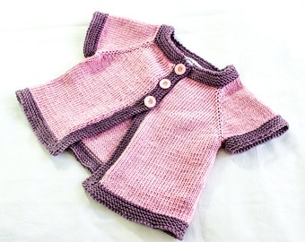 KNITTING PATTERN, , Baby Jacket  Knitting Pattern, French Fashion Inspired  Baby Pattern, PDF