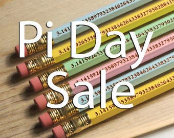 PI DAY SALE 6 Pack - Perfect for Pi Day The Pi Pencil to 96 digits - 6 pack - Look Smarter for Pi Day