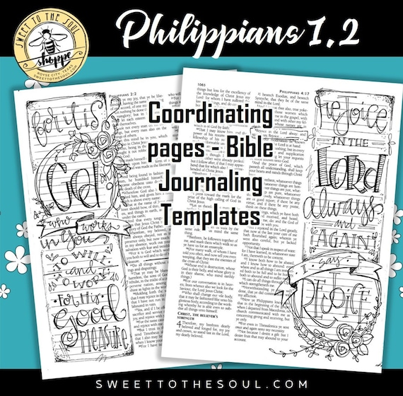 soul inspired bible journaling template philippians