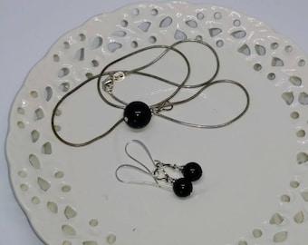 Blue Sandstone Jewelry Set