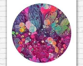 PRINT - Chromatozoa Micro Petri - Pink 2 - 12x12 Inch Art Print