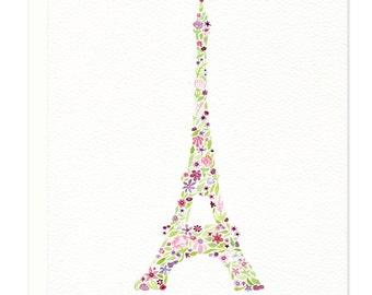 Eiffel Tower Merci Thank You Card