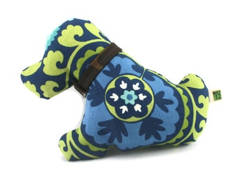 Handmade  Dog Toy Blue Puppy Love  Extra Durable Double Layer Construction
