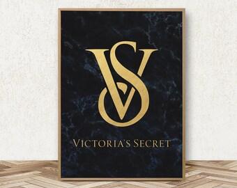 Victorias Secret Poster - Fashion Art Victoria Secret Print VS Pink Logo Victorias Secret Pink Party Victoria Secret Party Decorations