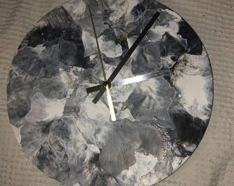 Painted Marble Clock