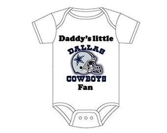 Dallas Cowboys Daddys little fan Shirt Gerber onesie you pick size newborn / 0-3 / 3-9 / 12 / 18 month 2t 3t 4t