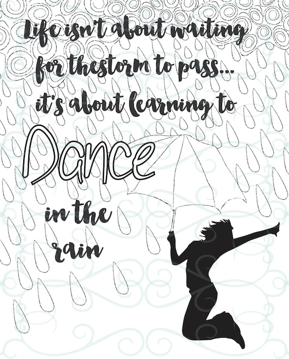 Adult Inspirational Coloring Page printable 11-Dance in the Rain ...