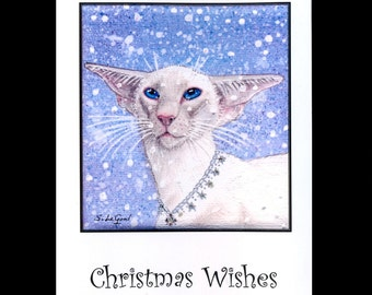 SIAMESE CAT CHRISTMAS Card by Suzanne Le Good