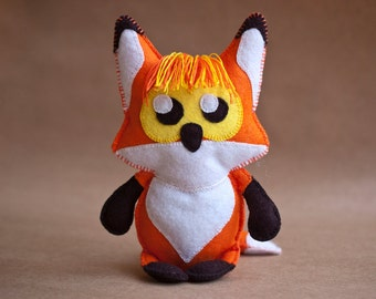Felt fox sewing and appliqué pattern