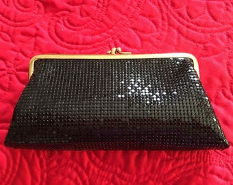 Whiting and Davis Black Mesh Coin Purse