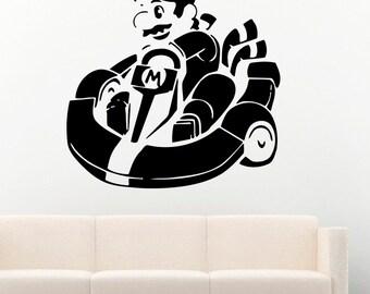Game Vinyl Decal Super Mario Video Game Wall Stickers Murals Decor MK1526