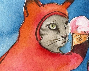 Free Ice Cream -FOXES ONLY- archival print