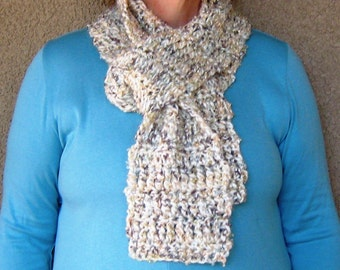 "Creamy Dreamy Ivory and Metallic Scarf---""Isaac M."""