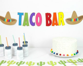 Sombrero Banner : Handcrafted Custom Phrase Fiesta Party Decoration | Birthday Banner | Cinco de Mayo Garland | Mexican Blanket Print Sign