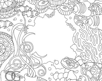 Colour Me Mindful: Underwater - Original Cover Illustration