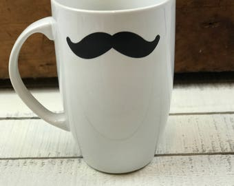 Mustache Coffee Mug - 15oz