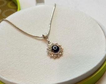 Pendant in Silver 925 crystals Nazar eye rar SK401