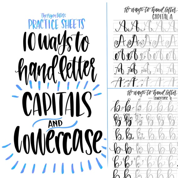 how to do hand lettering bundle save lettering practice sheets 10 ways to 22275 | il 570xN.1093812785 mc3s
