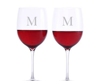 Custom Waterford Elegance Red Wine Bordeaux Glass 2pc. Set - Free Shipping