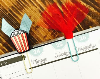 Popcorn and Tulle Paperclips