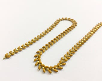 Enamel fancy chain way COB 6mm mustard jewelry headband