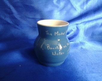 Old Blue Devon Ware Vase 'Bourton on the Water'  The Model Village