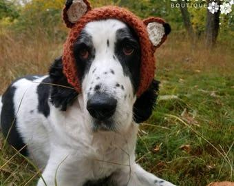 Dog Hat-Dog Fox Hat-Dog Hat for Winter-Dog Snood-Photo Prop-Dog Costume-Dog Clothing