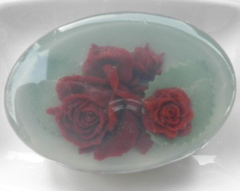 Burgundy Rose Glycerin Soap