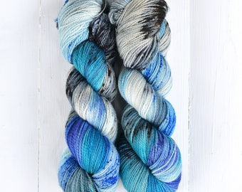 Hand Dyed Tough Sock Yarn - Rooftop