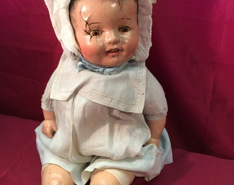 1930s Composition chubby Baby Doll