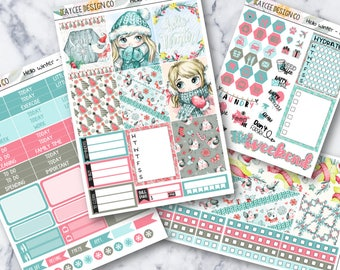 MINI Weekly Kit / Hello Winter / Planner Stickers / Fits Erin Condren Vertical and MAMBI / Winter / Holiday