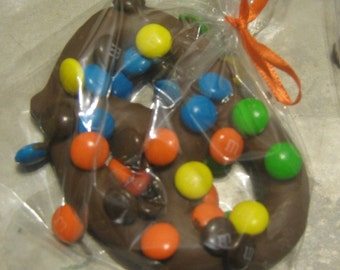 Chocolate covered sourdough special pretzels with or without sprinkle or candies