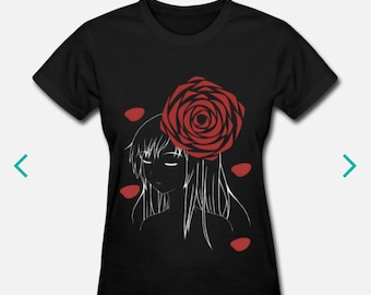 Rose - Anime style t-shirt