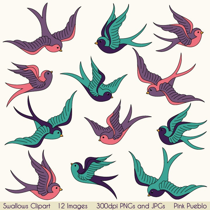 swallows clip art clipart birds clipart clip art vintage rh etsy com etsy clipart store etsy clipart flowers