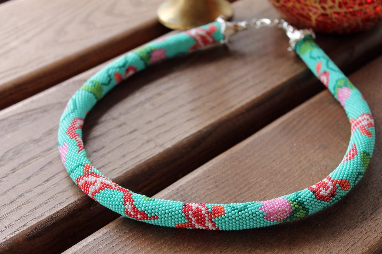 Perlen gehäkelt Seil Halskette Karpfen traditionelle