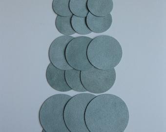 Circles 24 Sage Ultrasuede