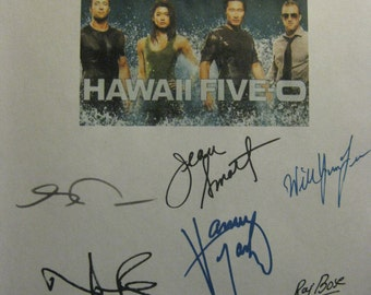 Hawaii Five-0 5 Signed TV Pilot Screenplay Script X12 Autograph Alex O'Loughlin Scott Caan Daniel Dae Kim Grace Park Norman Reedus Marsters