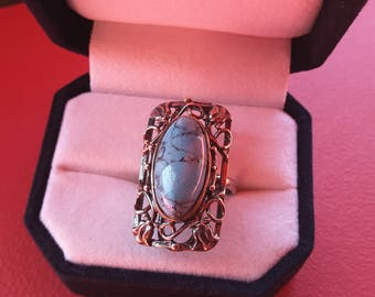 925 sterling silver and Turquoise - gift - Present - sterling silver ring