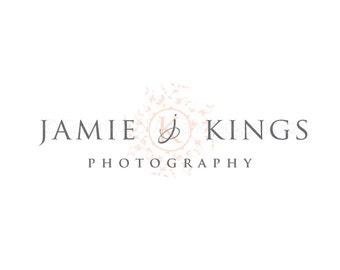 Photography logo - initials logo watermark logo floral logo photography - elegant logo