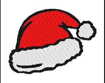 Santa Hat Christmas Embroidery Pattern Design