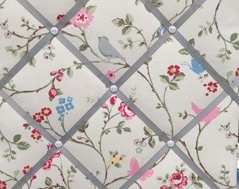 Hand made Fabric Board in Clarke & Clarke Birdtrail Fabric